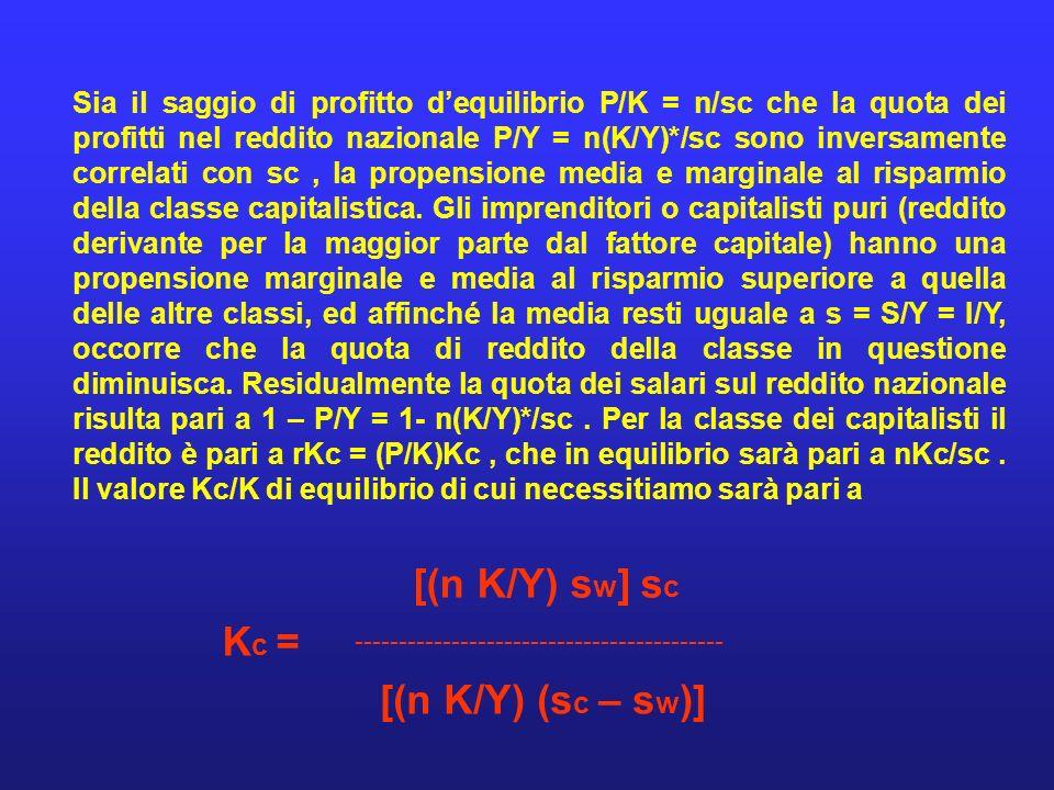 [(n K/Y) sw] sc Kc = [(n K/Y) (sc – sw)]